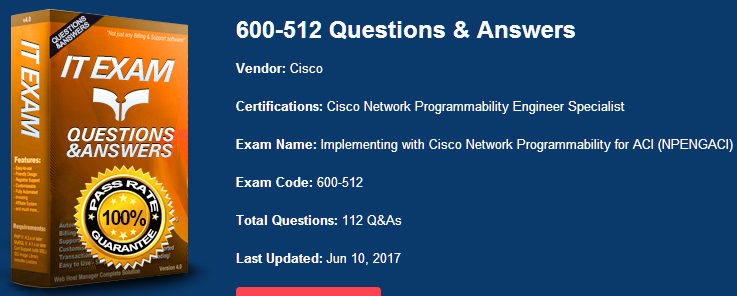 [High Quality Cisco Dumps] Free Latest Cisco 600-512 Dumps PDF Practice Materials And Youtube Demo