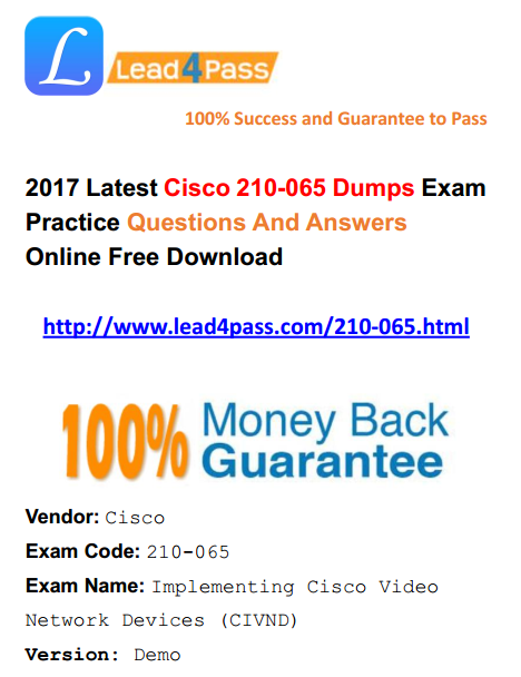 [High Quality Cisco Dumps] Cisco CCNA Collaboration 210-065 Dumps PDF Files And Youtube Free Shared