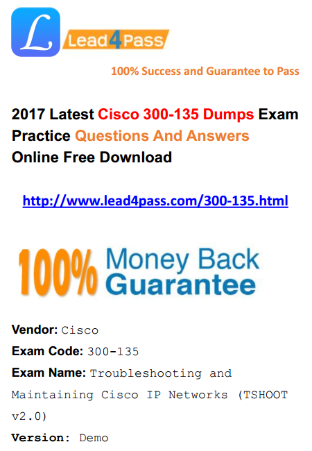[High Quality Cisco Dumps] Cisco CCNP Routing and Switching 300-135 Dumps Exam Questions And Youtube Demo